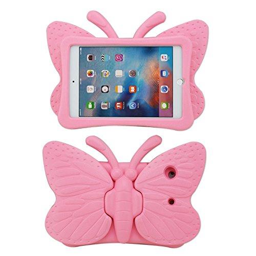 Samsung Tablet Kids Case, Galaxy Tab 4 7 inch Case KidsFunCase Butterfly Shape EVA Foam Full Protection Cover for Samsung Galaxy Tab 4 7.0 Tablet - Pink