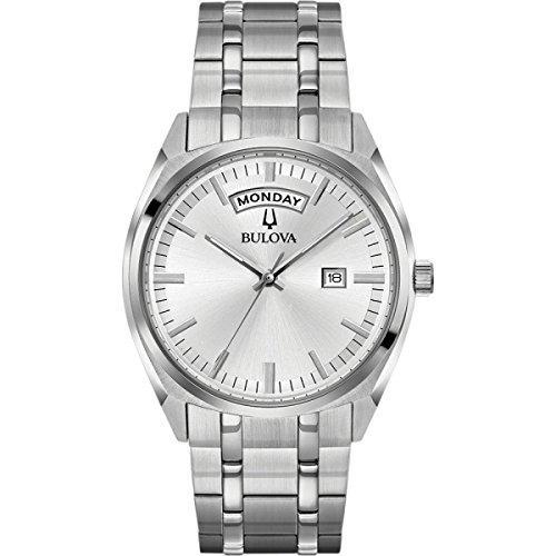 Bulova Herren Analog Quarz Uhr mit Edelstahl Armband 96C127