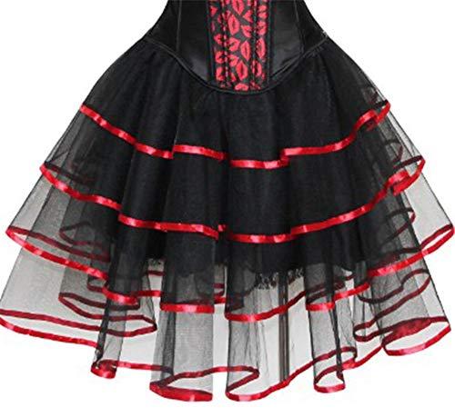 r-dessous Minirock Corsage Rock Stufenrock Skirt Spitze schwarz Petticoat Groesse: S/M
