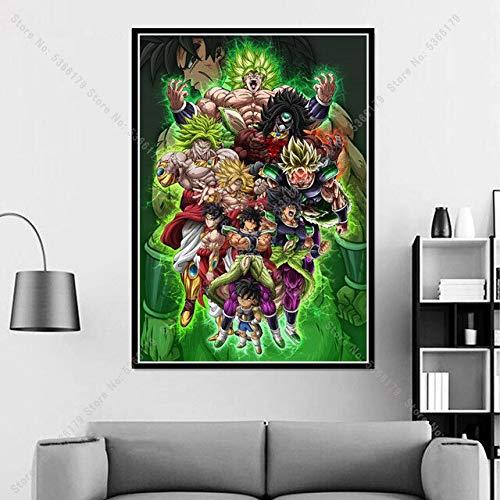 shuimanjinshan Reise Gohan Goku II Vegeta Dragon Ball Japan Anime Poster Druck Gemälde Wandkunst Leinwand Bild Home Wohnzimmer Dekor 50x70CM Kein Rahmen H-1351