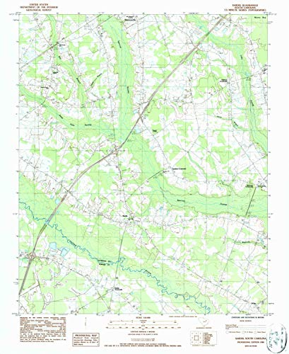YellowMaps Sardis SC topo map, 1:24000 Scale, 7.5 X 7.5 Minute, Historical, 1986, Updated 1987, 26.9 x 22 in - Paper