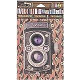 Canvas Corp 7 Gypsies Architextures Treasures Adhesive Embellishments-Vintage Style Camera 4'