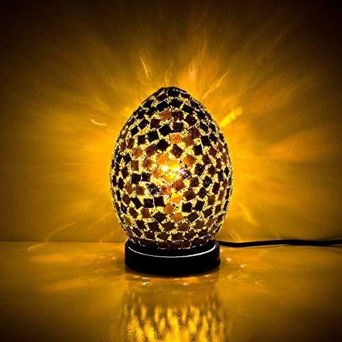 Weird Or Wonderful Fabulous Mosaic Egg Lamp by Febland – Schwarze Fliesen – Licht Schlafzimmer Nachttisch Schreibtisch Tisch UK-Stecker Energieklasse A