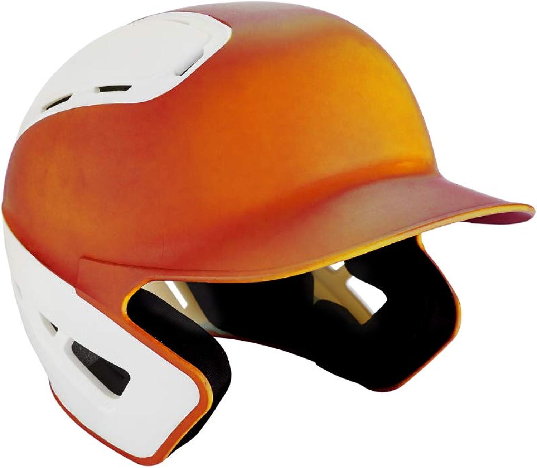 Mizuno B6 Adult Baseball Batting Helmet, orangeWhite, Large XLarge