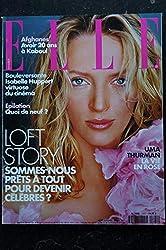 ELLE 2891 28 mai 2001 cover Uma THURMAN + 6 p. - 20 ans à Kaboul Lolo FERRARI Loft Story KENZA Monica LEWINSKY - 220 pages