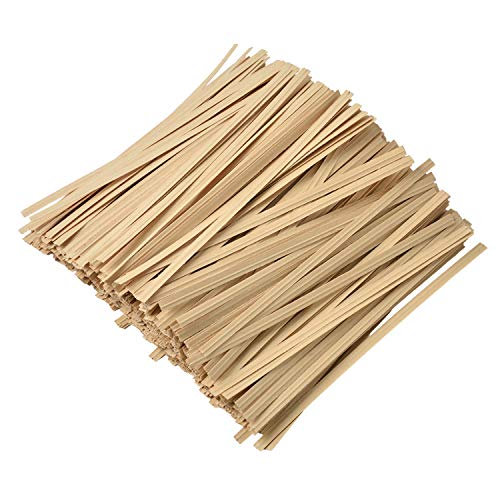 500 Pcs 5' Paper Kraft Paper Twist Ties, for Party Cello Candy Bread Coffee Bags Cake Pops