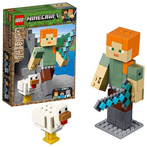 LEGO Minecraft Alex BigFig with Chicken 21149 Building Kit, 2019 (160 Pieces)