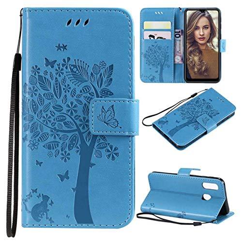 Funda FANNA para Samsung A20E – Samsung Galaxy A20E – Funda para teléfono móvil para mujeres y hombres con ranuras para tarjetas, cierre magnético, función atril, protección completa