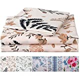 Best Queen Sheets - JSD Leaves Floral Print Sheets Set Queen, 4 Review
