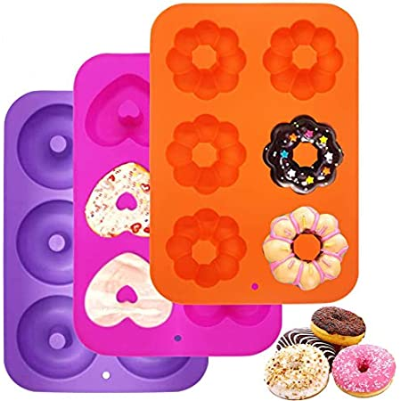 Moule Silicone Cake Donuts Moulessilicone Patisserie Moules à Pâtisserie, pour Gâteaux Biscuits Bagels Muffins Accessoire Cookeo