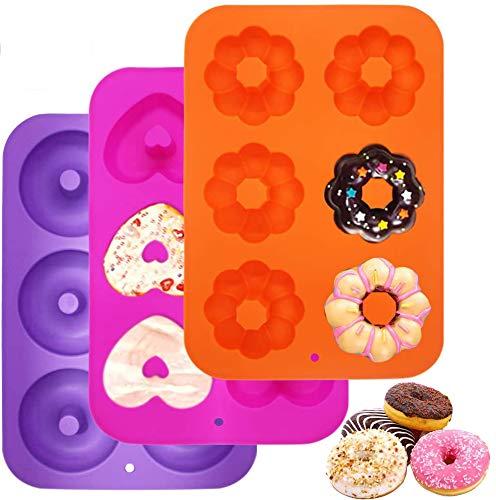 Stampi silicone Stampo ciambella Stampi per dolci in silicone Stampo muffin Adatto per torte, biscotti, bagel, muffin, accessori per cucina.