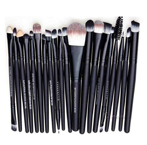 Scpink Make-up-Pinsel-Set, Make-up-Pinsel, Grundierung, Rouge, Augenbrauen Make-up, - Weiß + Gold. - Größe: 20 pennelli