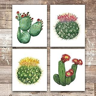 Cactus Wall Decor Art Prints (Set of 4) - Unframed - 8x10s | Botanical Prints