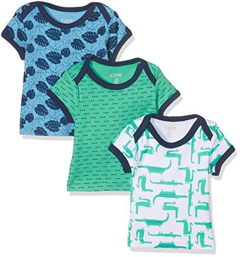 Care Baby-Jungen T-Shirt Bard, 3er Pack, Mehrfarbig (Winter Green 931), 74