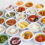 5PCS / LOT 1/6 casa de muñecas en miniatura de juguete playfood Fideos Jarabe Mini cuenco chino Accesorios de Cocina