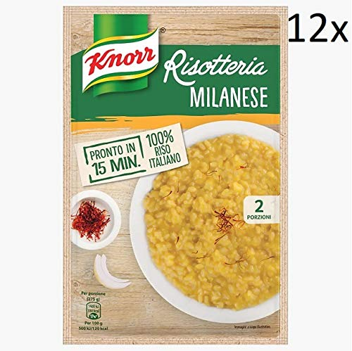 12x Knorr Risotto alla Milanese Reis Safran 175g 100% italienisch Fertiggerichte