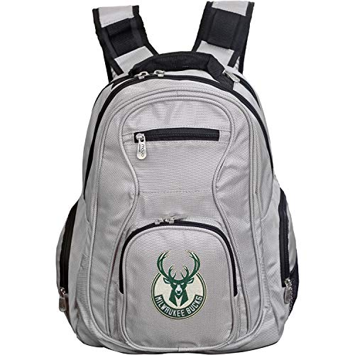 NBA Milwaukee Bucks Voyager Laptop Backpack, 19-inches, Grey