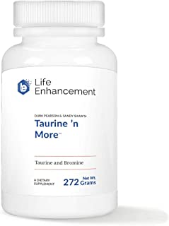 Life Enhancement Taurine 'n More | 1500 mg Taurine and 6 mg Bromide | 180 Servings