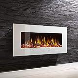 Noble Flame Vegas 770 Weiß - Elektrokamin Wandkamin Kaminofen Kamin - Wandmontage Fernbedienung -...