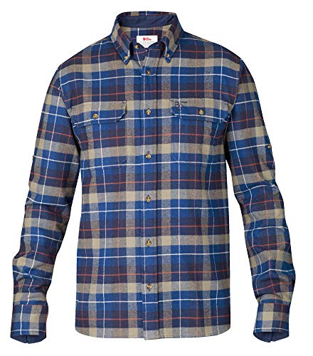 FJÄLLRÄVEN Singi Heavy Flannel Shirt M T-Shirt à Manches Longues Homme Navy FR: M (Taille Fabricant: M)