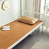 Summer Sleeping Mat Bamboo, Cool But Not Ice Foldable, Single Bed Student Dormitory Bamboo Mat (Size : Single Piece-1.0m (3.3 ft) Bed)