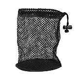 fasient1 Golfballtasche Black Mesh Nylon Sack Bag Tragbare Kordelzug Golfbeutel 25/50 Golfbälle Aufbewahrungshalter Golfzubehör(50 Ballsammler)