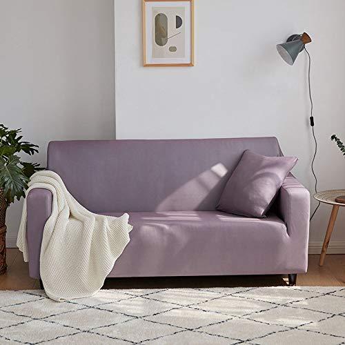 WYSTLDR Funda de sofá de Sala de Estar elástica sólida de Color sólido, Cubierta de sofá combinada, sillón de sofá elástico en Forma de L, Zafiro de Productos para el hogar 145-185 cm