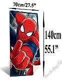 Spiderman Toalla Playa, Poliéster, Multicolor, Única