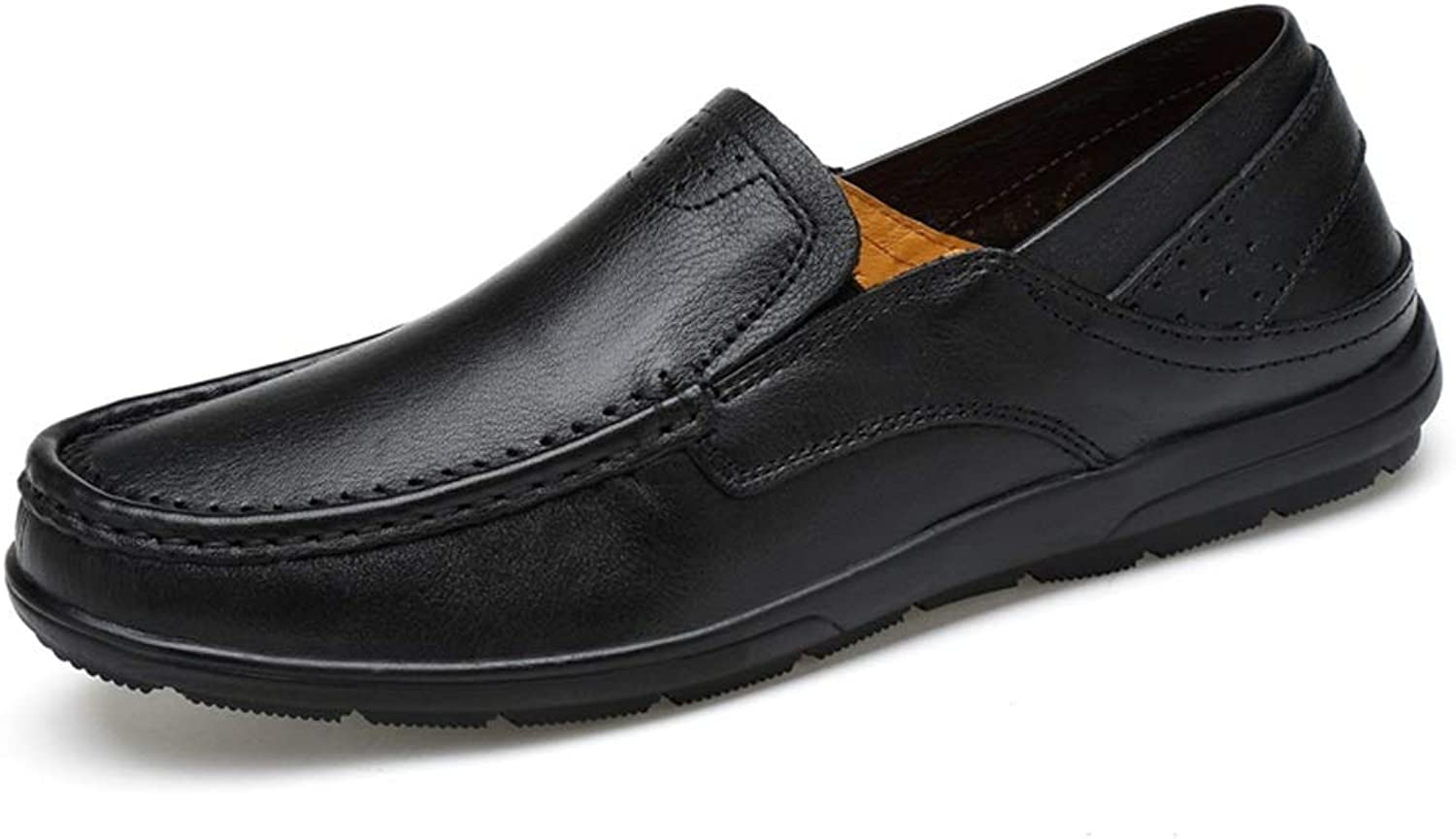 Lvjuzhuangshieur Men's OX Leather Driving Loafers Boat Moccasins Slip-on Style Lightweight Flexible