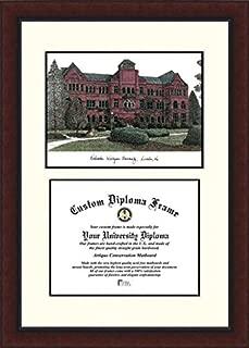 Campus Images NE998LV Nebraska Wesleyan University Legacy Scholar Diploma Frame, 8.5