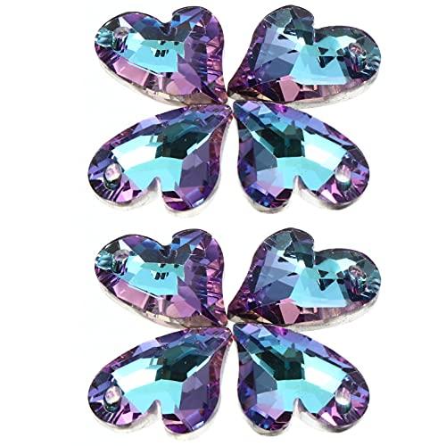 YARNOW 20 Piezas de Dijes de Zirconia Cúbica Colgantes de Cristal Colgantes de Piedras Preciosas de Diamante Dijes para Collar Pulsera Pendientes Joyería DIY Artesanía