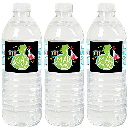 Find Discount Big Dot of Happiness Scientist Lab - Mad Science Baby Shower or Birthday Party Water B...