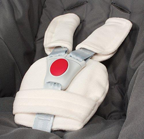 ByBoom® - Set de coussins protège-ceinture - universel pour coque bébé, siège auto (par ex. Maxi Cosi City SPS, Cabrio, Cybex Aton etc.), poussette; nombreuses couleurs; MADE IN EU, Colour:Beige