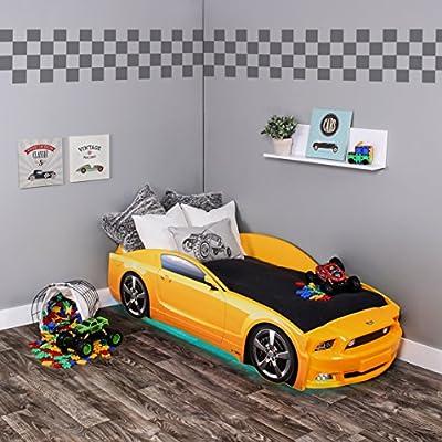 Kagu - Cama infantil/cama juvenil con diseño de un verdadero coche, también disponible con iluminación LEDPráctica y cómoda cama para su hijo.
