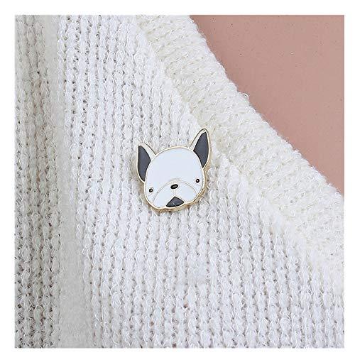 Jubaren7 El Oro Pin broches Perro de Animal Cabeza de Negro y...