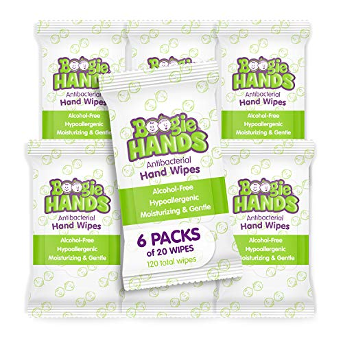 Hand Sanitizer Wipes by Boogie Wipes, Alcohol-Free,...