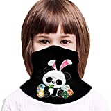 Photo de Top Wholesale Cute Kids Boys Girls Silly Rabbit Easter Kids Multifunctional Face Cover Headwear Neck Scarf Bandana Balaclava Tube Gaiter Stretch Snood Headband par