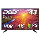 Acer 4K モニター ディスプレイ OmegaLine 43インチ DM431Kbmiiipfx IPS HDMIx3 DisplayPort HDR スピーカー内蔵 ブルーライト軽減 リモコン付
