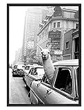 H/E Cartel De Pintura Al Óleo De Camello Simple Retro DIY Inicio Sala De Estar Bar Cafe Decoración Mural Times Square Taxi Sin Marco 40X50Cm W11207