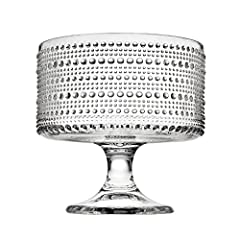 Has pedestal and can be used to serve fruit and dessert Makes for a great centerpiece display in the middle of a dining room table Makes for a great gift for housewarming parties, get togethers, weddings, and events Since 1973 Godinger has specialize...