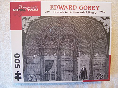 Edward Gorey - Dracula in Dr. Seward's Library: 500 Piece Puzzle