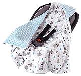 Couverture enveloppante bébé nid d Ange siège Auto 85x85cm multifonction Poussette Hiver avec une capuche douce et moelleuse pour landaus Medi Partners