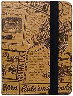 Capa Case Novo Kindle (básico) 10ª Geração Auto Hibernação - Jornal Marrom