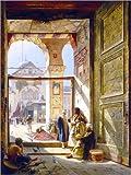 Poster 30 x 40 cm: Das Tor der großen Umayyad Moschee in