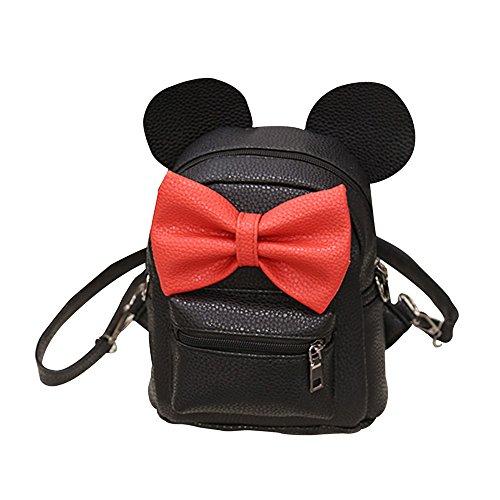 Homebaby Ragazze Mickey Zaino femminile Mini Borsa da viaggio Zaino donna 2018 New Cartella Bambina Classic Piccola borsa da spalla dolce - Tracolle regolabili