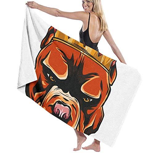 ENZOOIHUI Funny Little Beagle King Crown The Bath Towel Toalla de Playa 80X130 Cm