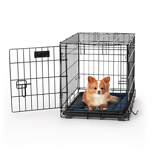 K&H Pet Products K-9 Ruff n' Tuff Crate Pad Extra Small Navy Blue (14' x 22') - 1260 Denier Rip-Stop Polyester for Pets That Need Extra Tough Fabric