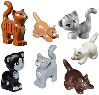 LEGO FRIENDS 7 pcs NEW CAT LOT Kitten Kitty Animal Pet shop Minifigure Minifig Figure boy girl Cute