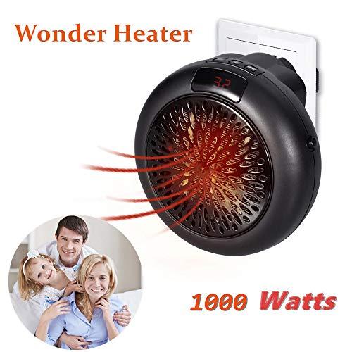 Heater Riscaldatore portatile Stove Handy Heater riscaldatore 1000W Mini Stufa Stufetta Elettrica Gradi Regolabili (nero)