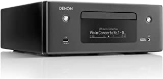 Denon RCD-N10 Hi-Fi All-in-One Receiver & CD Player | Perfect for Smaller Rooms and Houses | Wireless Music Streaming & Am...